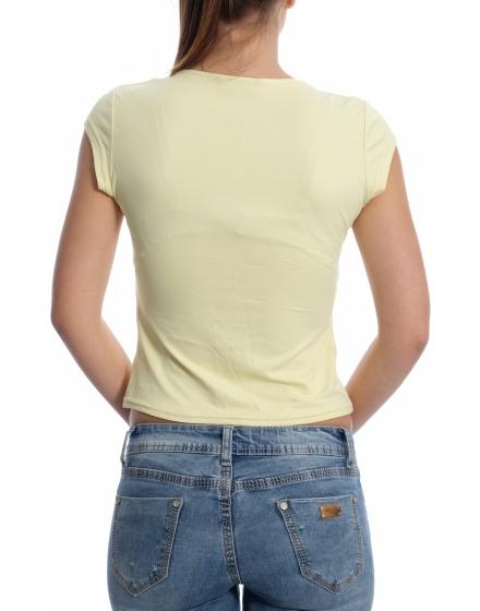 Дамска блуза с къс ръкав Pimkie