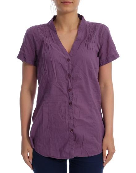 Дамска риза с къс ръкав Basic Style