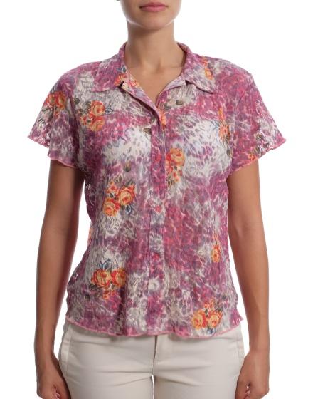 Дамска риза с къс ръкав Biaggini