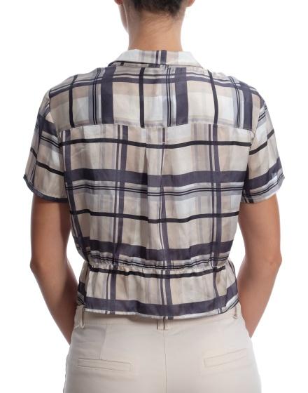 Дамска риза с къс ръкав MANGO