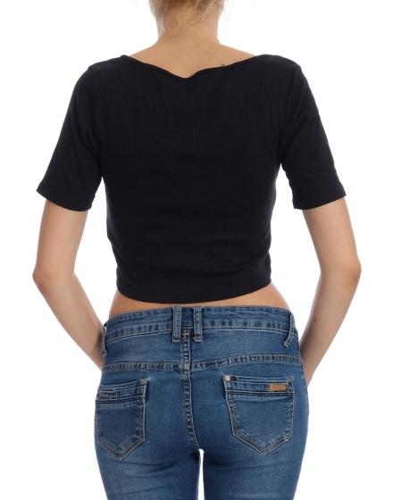 Дамска блуза с къс ръкав Divided by H&M