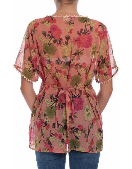 Дамска блуза с къс ръкав Green House