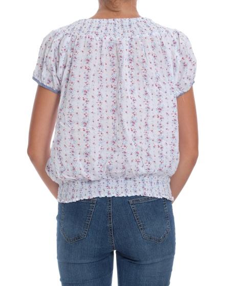 Дамска блуза с къс ръкав ZARA