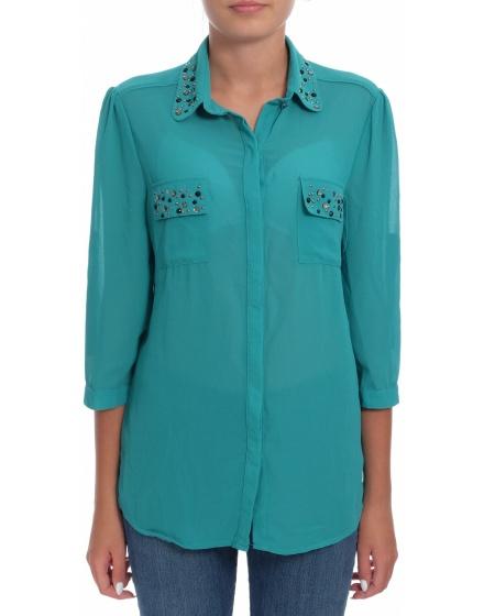 Дамска риза с къс ръкав N&P