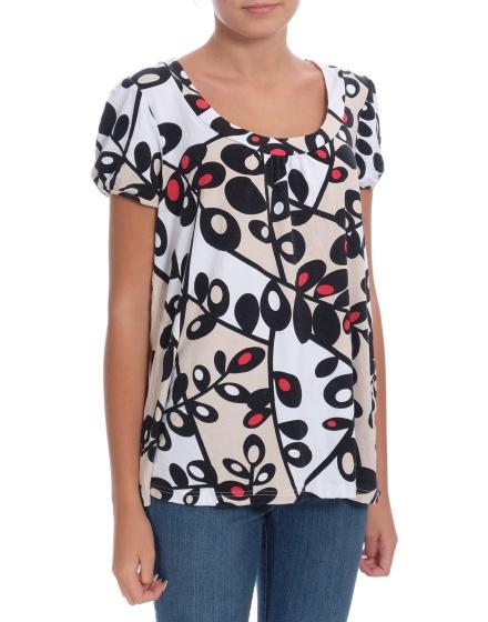 Дамска блуза с къс ръкав KappAhl