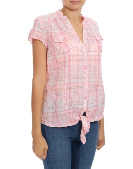 Дамска риза с къс ръкав Grain De Malice