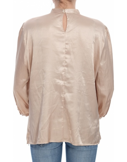 Дамска блуза с къс ръкав MANGO