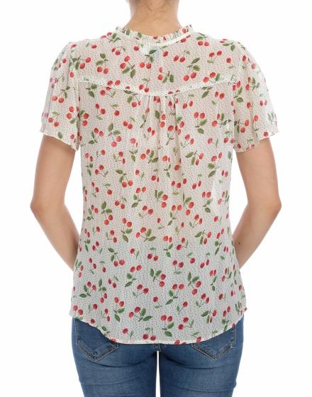 Дамска риза с къс ръкав Divided by H&M
